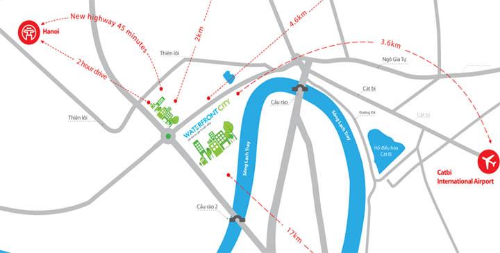 Vị trí dự án Water Front City