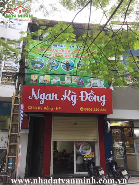 Bán nhà mặt đường số 53 Kỳ Đồng, Hồng Bàng, Hải Phòng